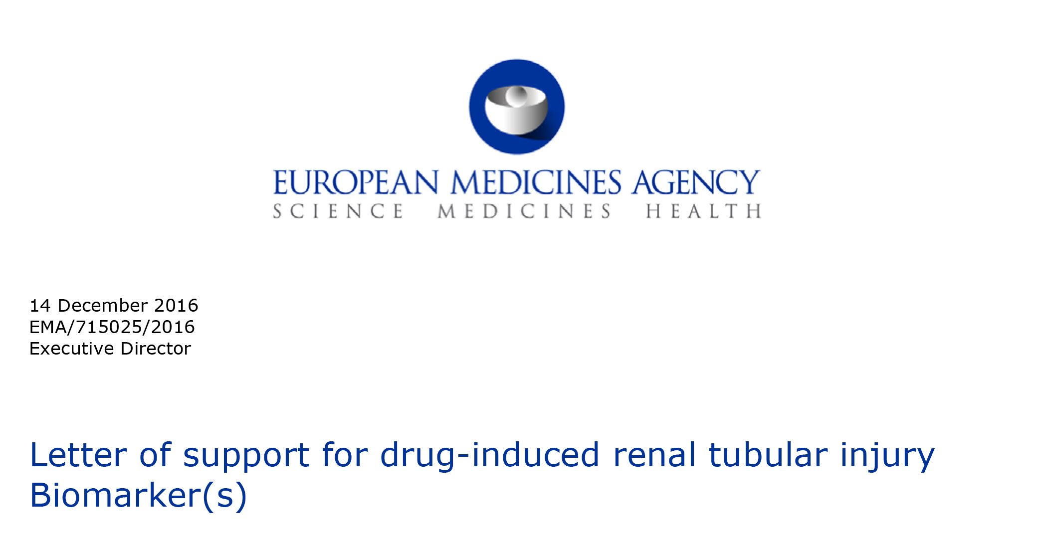EDMA Supports Renal Injury Biomarkers