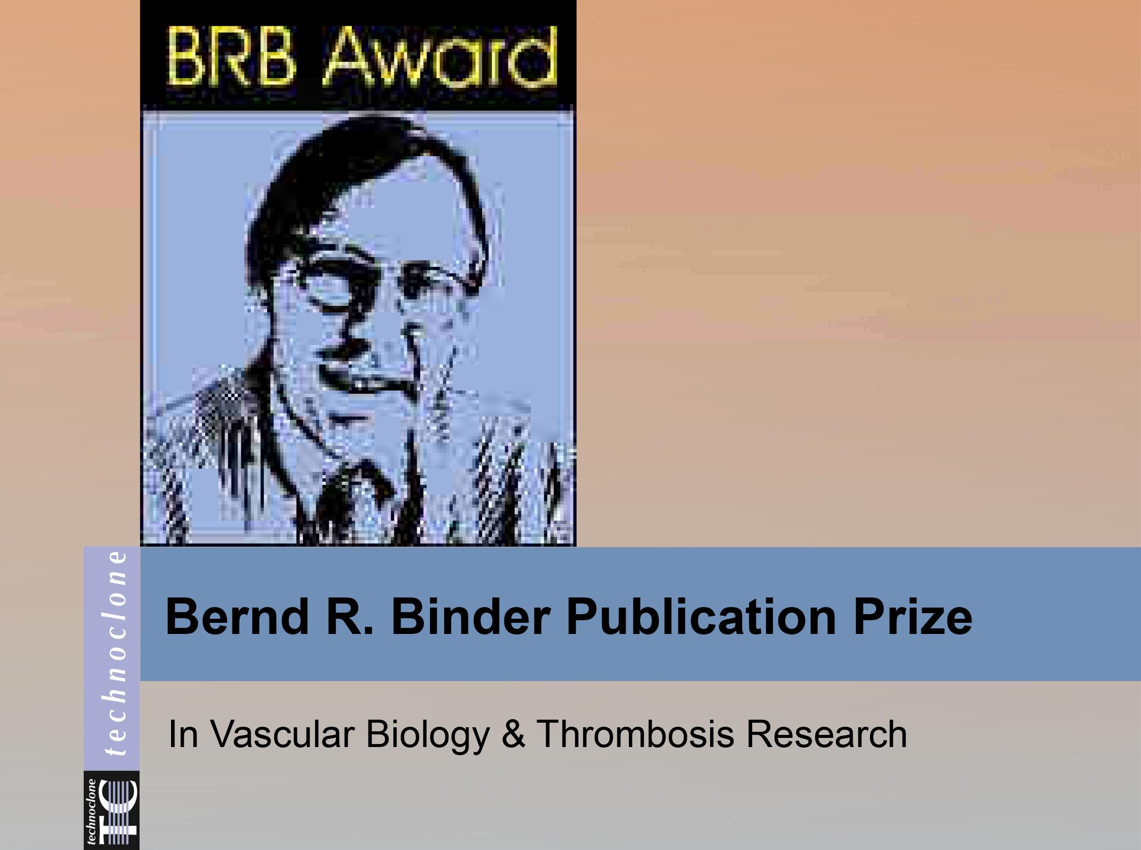 Bernard Binder Prize 2017