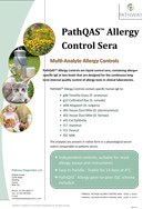PathQAS allergy brochure